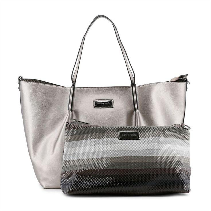 Bolso Plateado de Pierre Cardin con estilo shopping bag para eses días que necesitas tenerlo todo contigo. 39,90€ IVA incluido