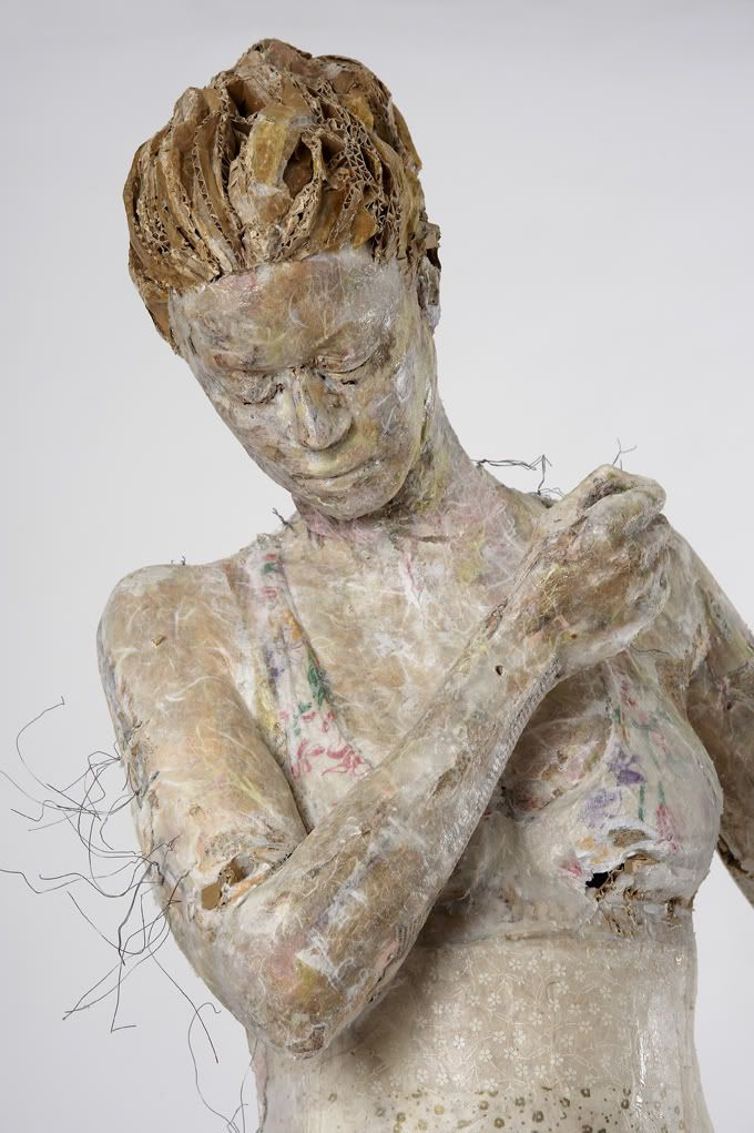 Greek artist Vally Nomidou creates these delicate life-size sculptures of women and girls using paper and cardboard. Via the exhibition page: Paper, Nomidou's dominant material, now becomes a key component in her creative process, inextricably linked to painful and systematic research on the techni