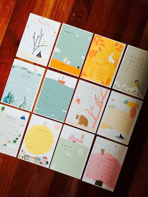2015 Calendar  free shipping worldwide by SukiMcMaster on Etsy