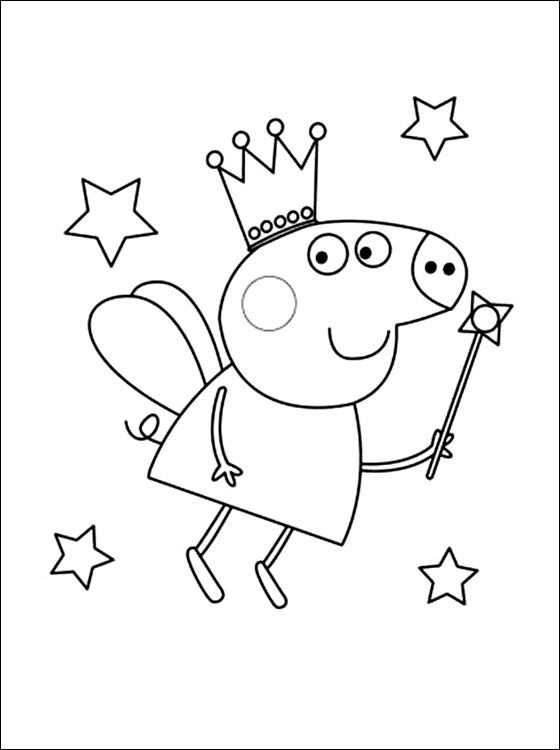 Peppa is 5 years old pig | Coloring pages