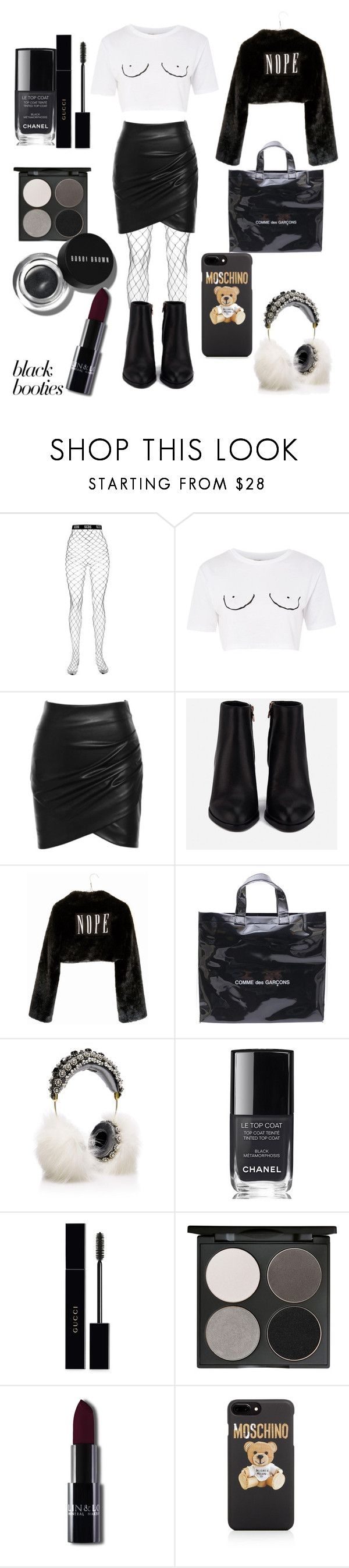 """Untitled #56"" by sudehur ❤ liked on Polyvore featuring GCDS, Topshop, Alexander Wang, Wet Seal, Comme des Garçons, Dolce&Gabbana, Chanel, Gucci, Gorgeous Cosmetics and Bobbi Brown Cosmetics"