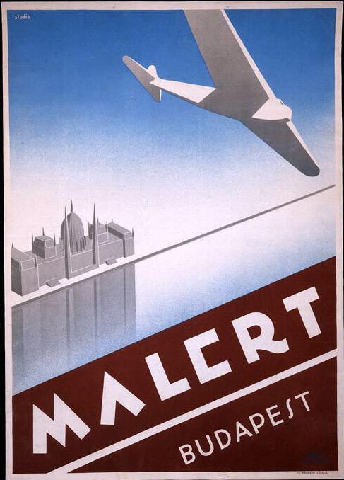 Malert Budapest, circa 1934, Hungary  http://airandspace.si.edu/collections/artifact.cfm?id=A19900977000