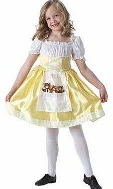 Rubies Goldilocks Toddler Looking lovely in your golden dress with its picture of the Three Bears on the pouc. youll be invited back by your new furry friends. time and time again. Fits ages 2 - 3 years. Polyester. EAN: 883028 http://www.comparestoreprices.co.uk/childrens-dressing-up-clothes/rubies-goldilocks-toddler.asp