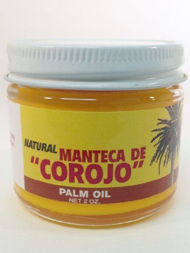 Manteca De Corojo 2 Oz. Red Palm Oil By Imperial  Made with 100% pure natural palm oil. By Imperial  It is great as a moisturizer on your skin, a hair conditioner, or as a relaxing massage oil.  Hecho con 100% aceite de palma pura y natural.  Es magnífico como un humectante en la piel, un acondicionador de cabello, o como un aceite para masaje relajante.