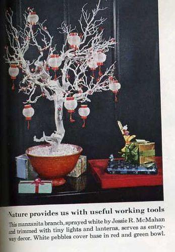 1960 Christmas Tree Asian Inspired, via Flickr.-- I LOOOOVE this!!!