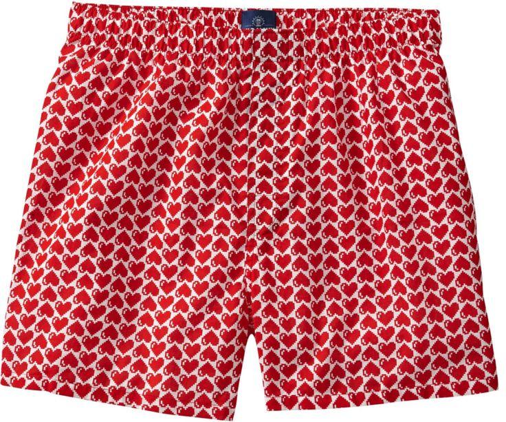 Valentine Gift for Your Boyfriend:  Mens Boxer Shorts in Digi Hearts @ Old Navy