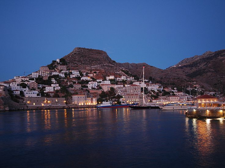 The night falls on #Hydra Island, #Greece.  http://www.cycladia.com/travel-guides-greece/hydra-guide-tips/