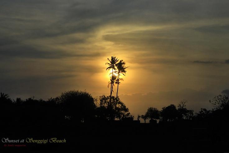 sunset at senggigi beach