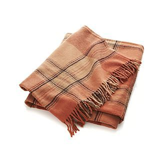 Rust Plaid Throw I Crate and Barrel