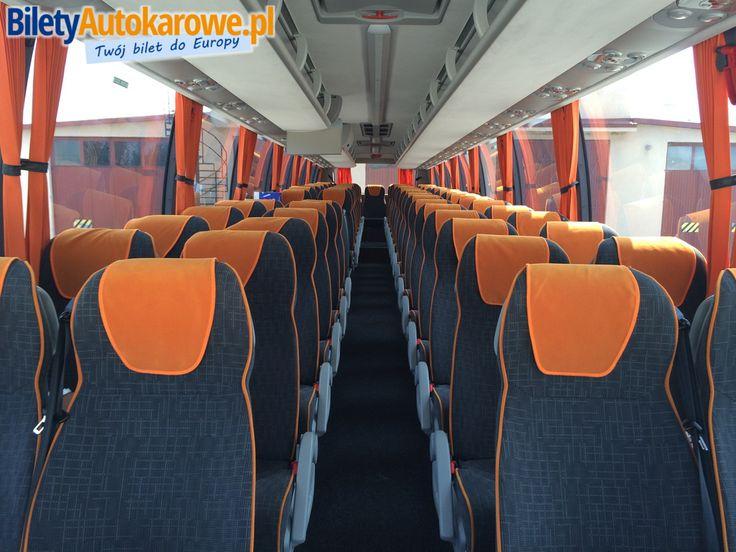 Autokar Agat - wnętrze. Tanie bilety - www.biletyautokarowe.pl/agat