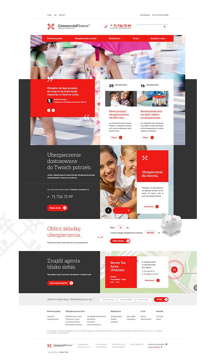 Commercial Finance / Vision Trust / #red #grey #finance #insurance
