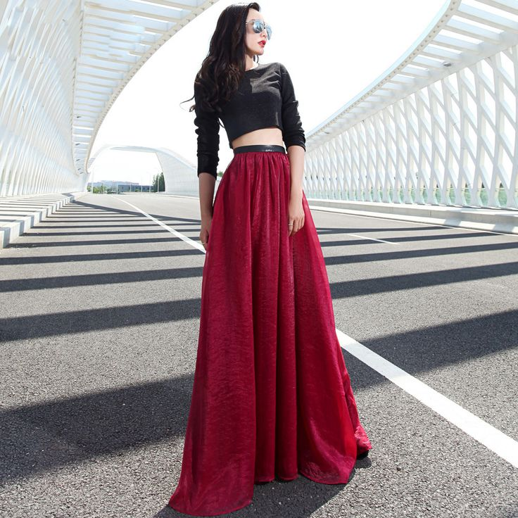 Fashion Women Long Chiffon Skirt | Dresscab