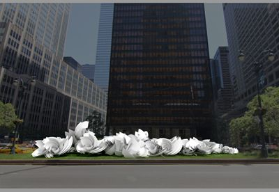 Alice Aycock - Park Avenue Paper Chase 2014. #sculpture #sculptor #newyorkcity #nyc #manhattan #bigapple #art #artist #rockpaperscissors