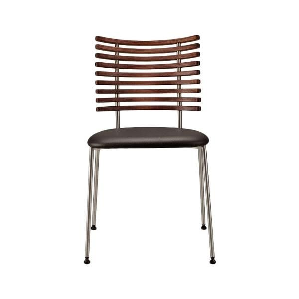 Tiger Chair Designer: Henrik Lehm Manufactured by: Naver Collection Dimensions (in): 18.5 w | 21.25 d | 31.5 h Tiger chair in solid wood and stainless steel wit