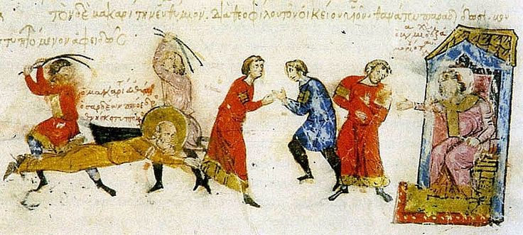 Martyrdom of Euthymius of Sardeis (Fol.28vb