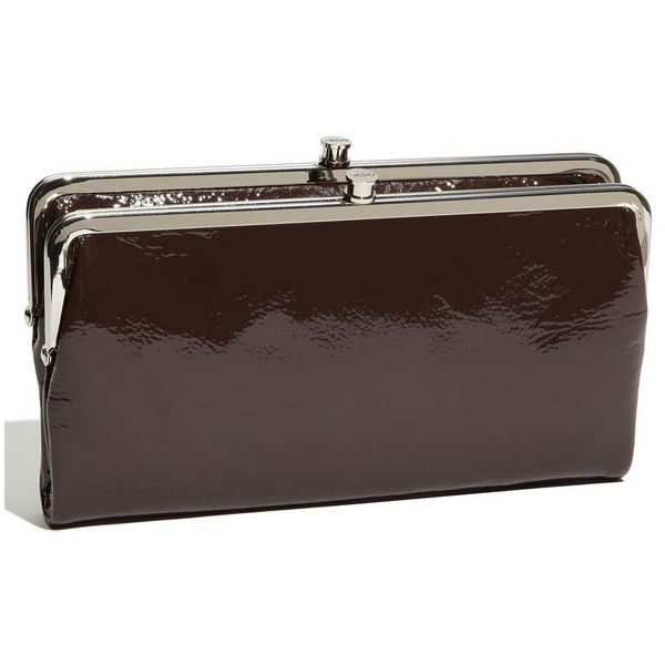hobo belinda double frame patent clutch chocolate one size 55 found on - Double Frame Clutch Wallet