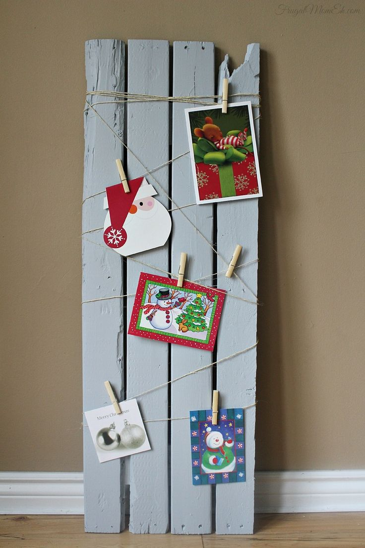 171 best handmade christmas cards images on pinterest handmade reclaimed wood card display board diy christmas decor solutioingenieria Image collections