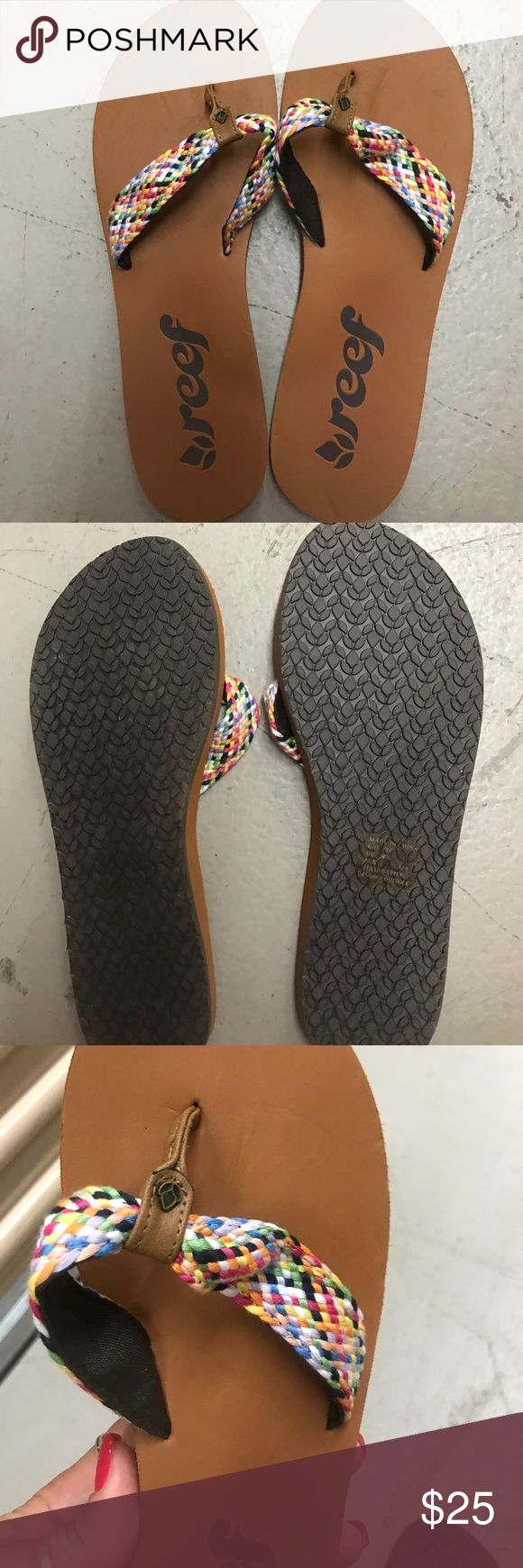 Brand new size 11 reef flip flops Rainbow colored reef flip flops brand new Reef Shoes Sandals