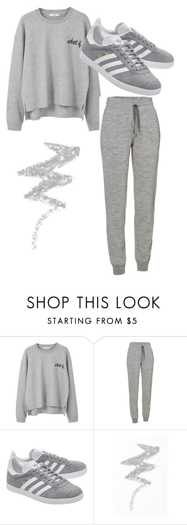 """""""Grey"""" by alis-m ❤ liked on Polyvore featuring MANGO, Icebreaker, adidas Originals and NYX"""