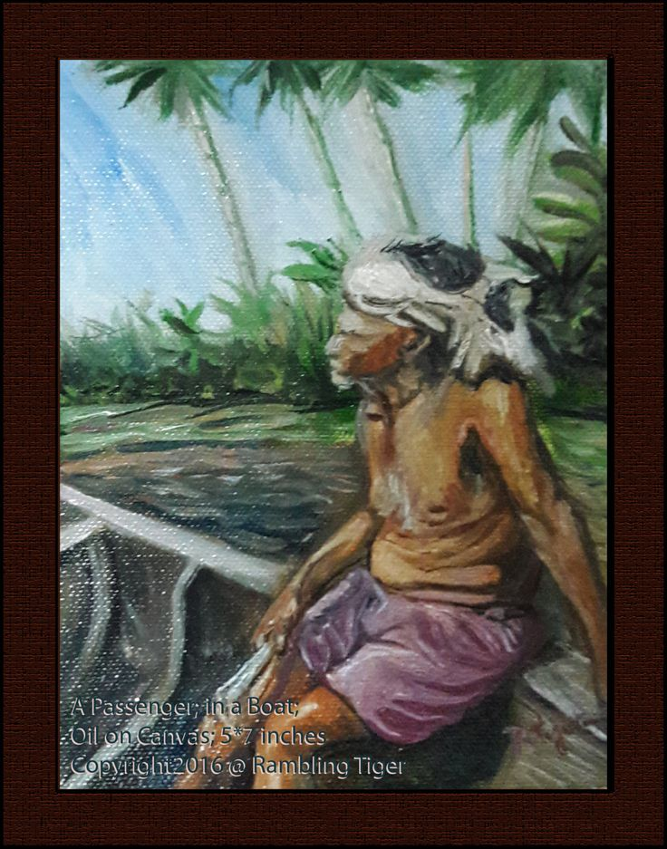 A Passenger in a Boat Oil Painting