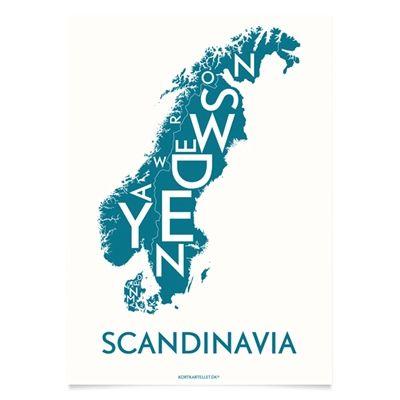 Plakat over Skandinavien - Kortkartellet