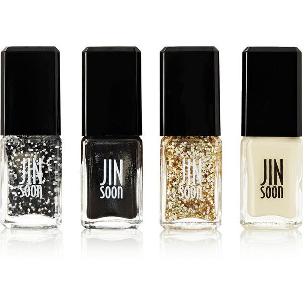 Get your nails ready for the holidays with Jin Soon's 'Tout Ensemble' collection. This set includes two opaque shades - a glimmering black 'Chamonix' and an iv…