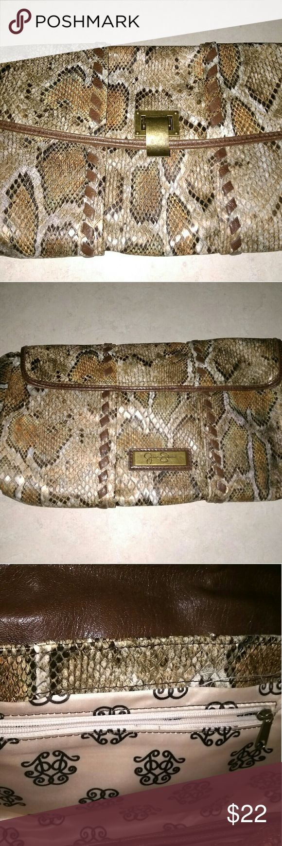 Jessica Simpson Animal Print Clutch Purse No rips or stains Smoke free environment Flap with hook Closure 12 inches wide x 6.5 inches high Jessica Simpson Bags Clutches & Wristlets