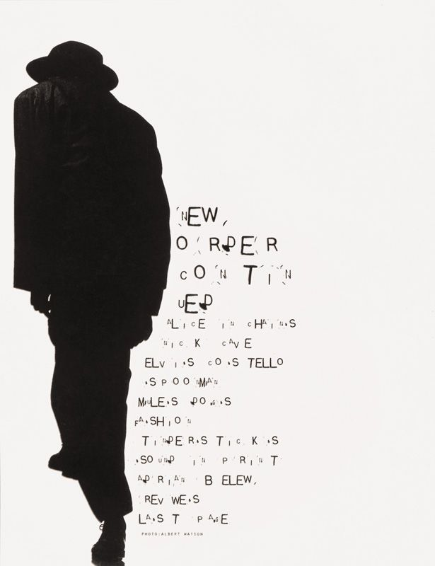 Ray Gun by David Carson, 1994. Typography done by David Carson