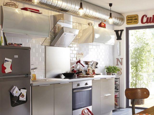 Les 60 meilleures images propos de d co industrielle for Table cuisine leroy merlin