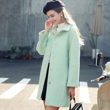 Quintina 2016 Yeni Moda Bayanlar Sonbahar Yün Ceket Casaco Feminino Manteau Kadın Palto Kış Yün Ceket Kadın(China (Mainland))