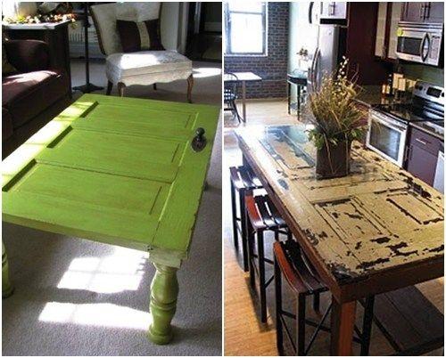 M s de 25 ideas incre bles sobre mesas de puertas viejas - Reciclado de muebles viejos ...