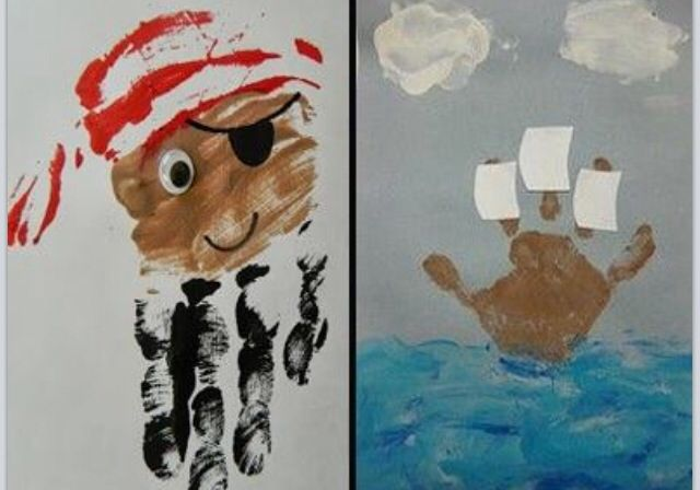 Pirat med håndtrykk