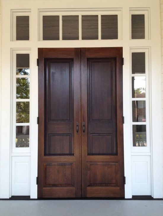 The 25 best wood screen door ideas on pinterest screen for Storm doors for double entry doors