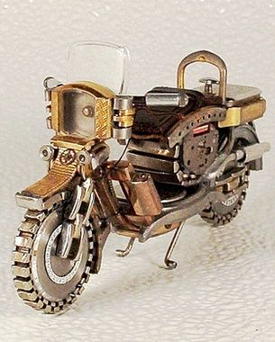 MINI MOTORBIKES MADE FROM WATCH PARTS
