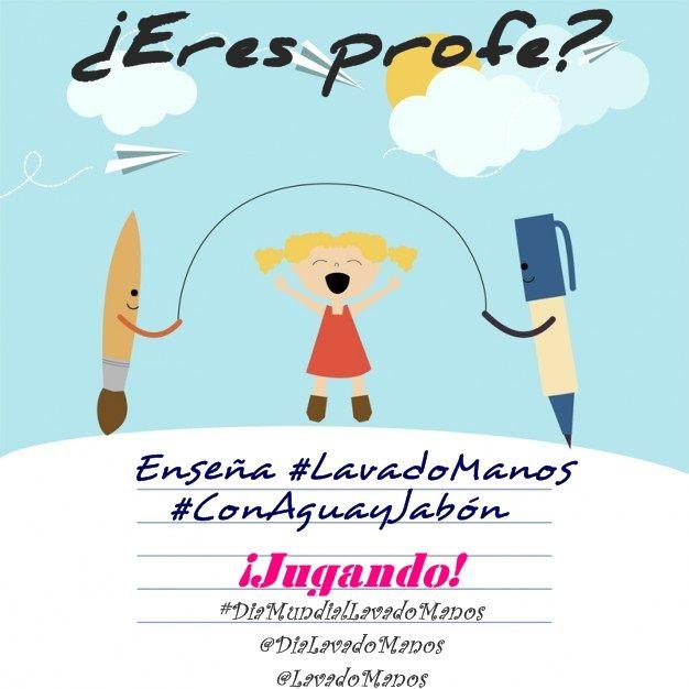 ¿Eres profe? ¡enseña #LavadoManos #ConAguayJabón jugando!