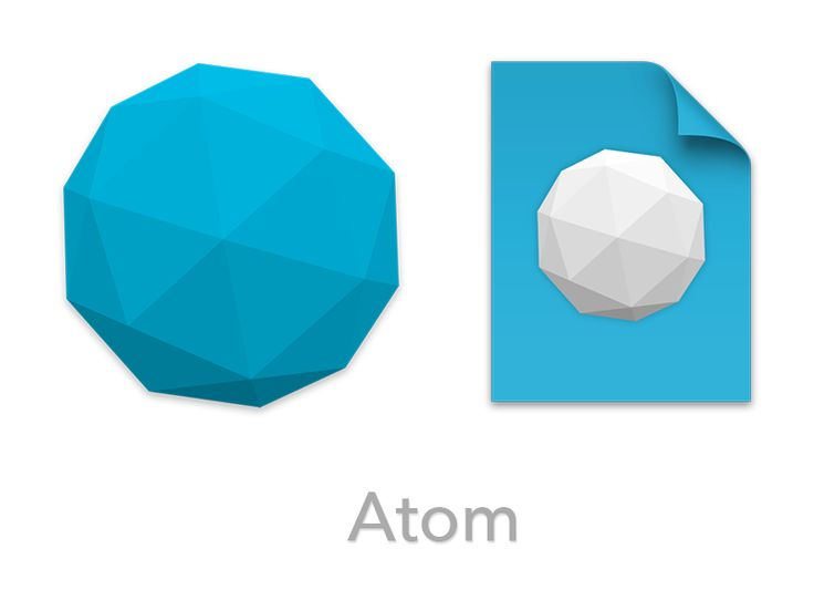 edwardloveall/atom-replacement-icon: Replacement icon for the Atom text editor