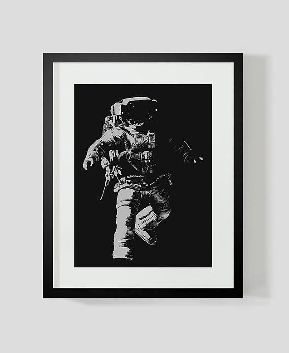 ASTRONAUT Print by TheOrangeSeller on Etsy