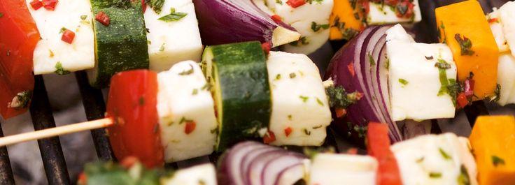 Spiedini vegetariani alla griglia