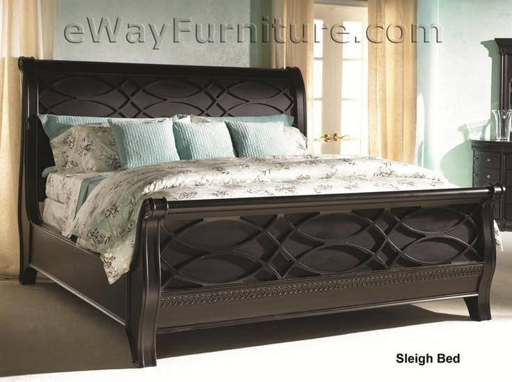 Black Sleigh Bed