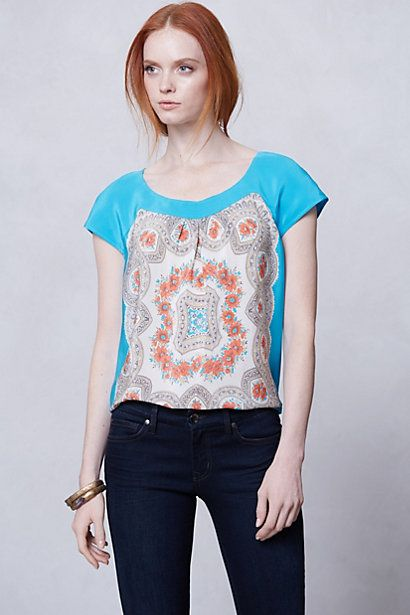 Anthropologie -Fontes blouse