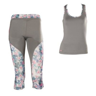 #FW2013, #WRUP_Sport #Shaping_Effect, #Comfort, #Pedal_Pusher, #Free_Tank_Top, #Grey_Flowers