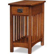 Leick Furniture Medium Oak Side Table                              …