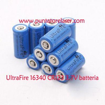UltraFire 16340 CR123 3.7V al litio ricaricabile batteria Parametro tecnico: http://www.puntatorelaser.com/UltraFire-16340-CR123-al-litio-ricaricabile-batteria.html