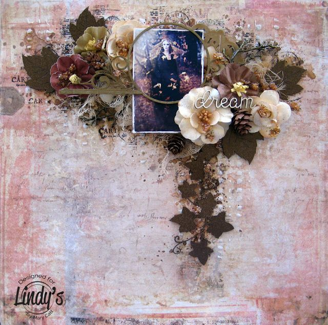 Mary's Crafty Moments: ''Dream'' - DT Layout for Lindy's Stamp Gang Color Challenge