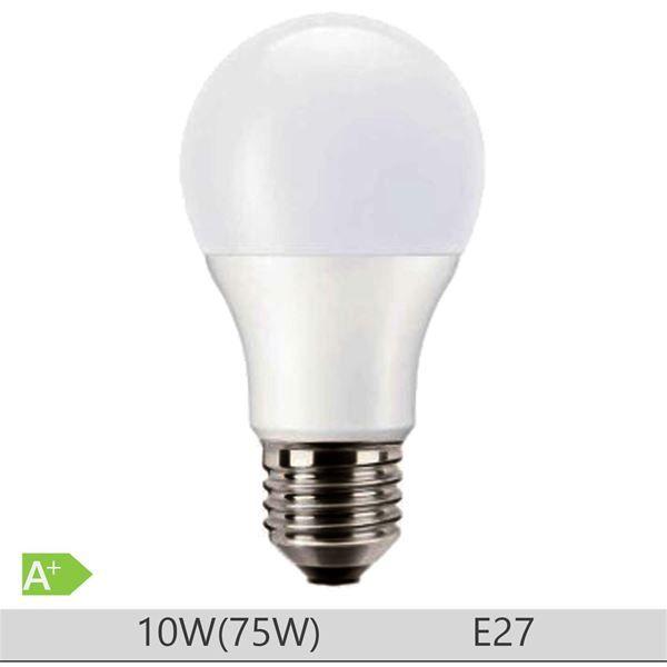 Bec LED PILA 10W E27 forma clasica A60, lumina neutra http://www.etbm.ro/becuri-led