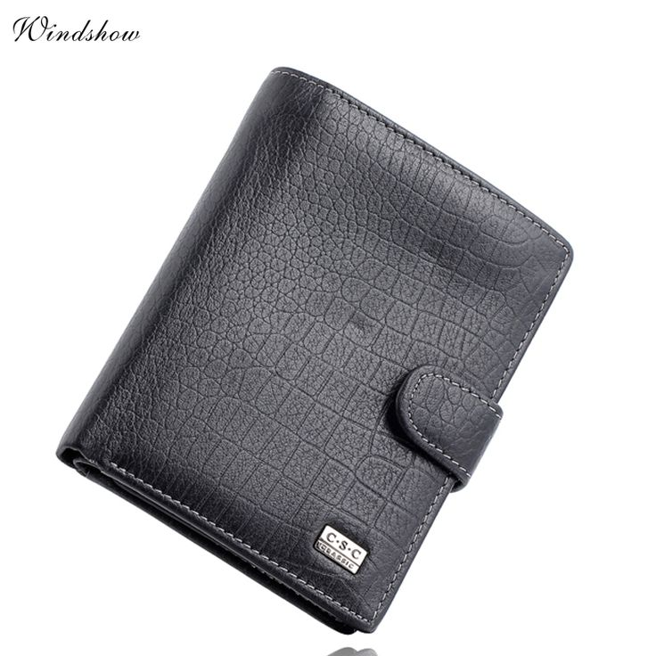 Famous Brand Mens ︻ Gentleman Black Large Bifold Genuine Real Leather Wallet ⊰ Passcard Pocket Credit ID Card Slots Coin Pouch PurseFamous Brand Mens Gentleman Black Large Bifold Genuine Real Leather Wallet Passcard Pocket Credit ID Card Slots Coin Pouch Purse