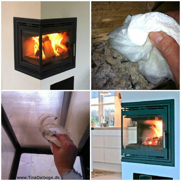 sod på brændeovnens glas #fjern sod fra glas