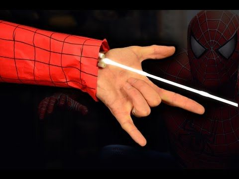 Как сделать Паутину Человека Паука чтобы стрелять. Как сделать настоящую паутину человека паука - YouTube