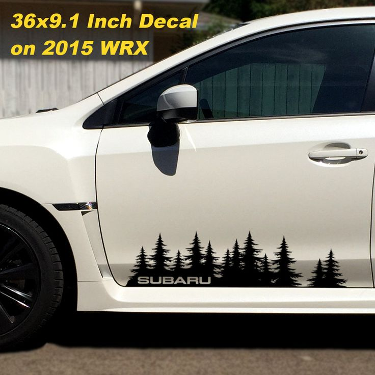 Subaru decal custom vinyl door graphic forest silhouette tree sticker wrx forester impreza brz legacy outback