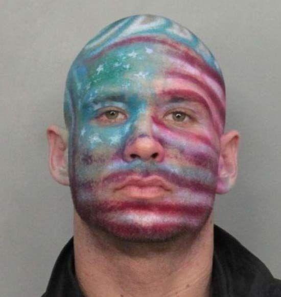 Flag Face ~~ 27 Crazy Funny Mugshots ~